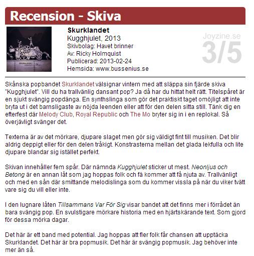 Kugghjulet recension i Joyzine 2013 cropped