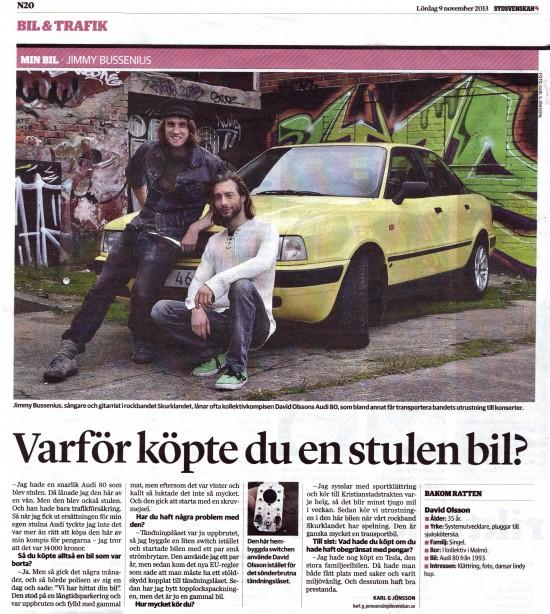 Jimmy Bussenius och David Olsson i Sydsvenskan