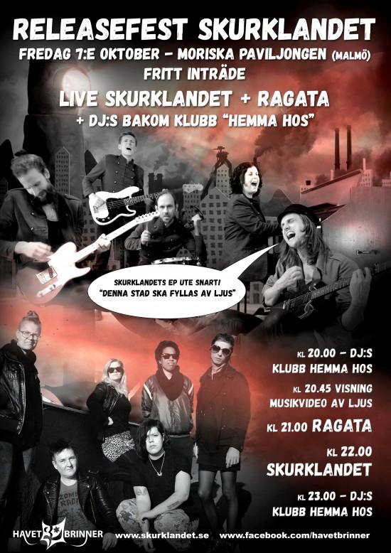 Skurklandets releasefest på Moriskan i Malmö