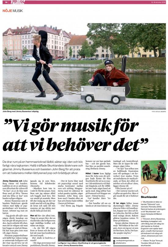 Skurklandet i Hallå Malmö 2016-10-12