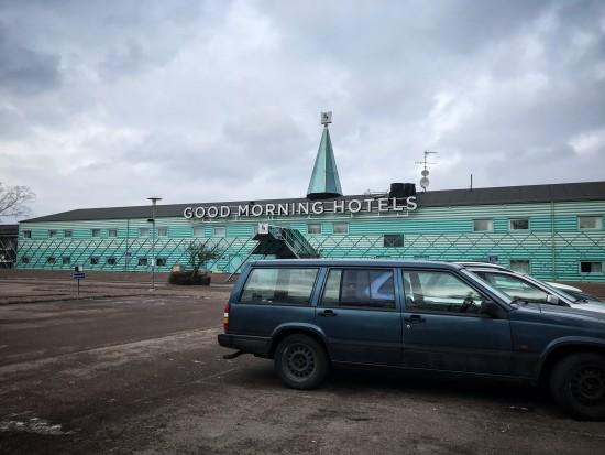 Good Morning Hotel, struthatten på taket gör liksom det där lilla extra